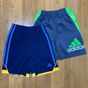 Adidas logo stripe gym shorts navy grey 4